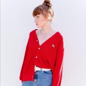 IZOD LACOSTE Vintage Red Cardigan
